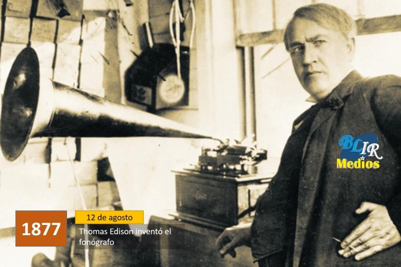 Thomas Edison inventó el fonógrafo